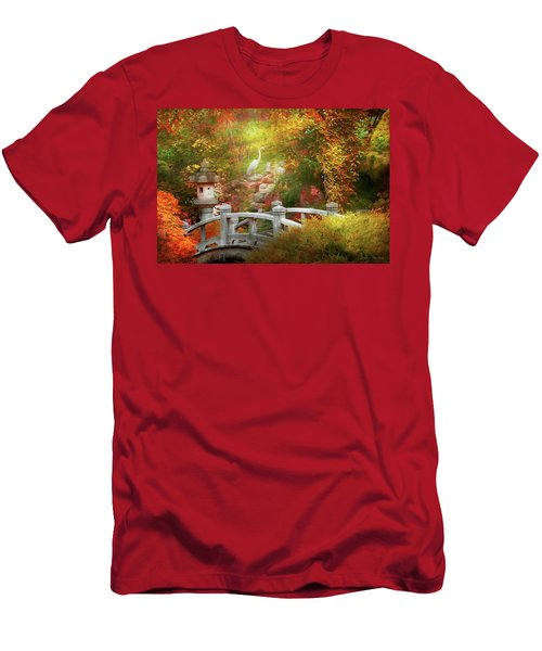 Men's T-Shirt (Athletic Fit) featuring the photograph Autumn - Finding Inner Peace by Mike Savad