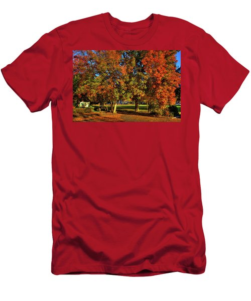 Men's T-Shirt (Athletic Fit) featuring the photograph Autumn In Reaney Park by David Patterson
