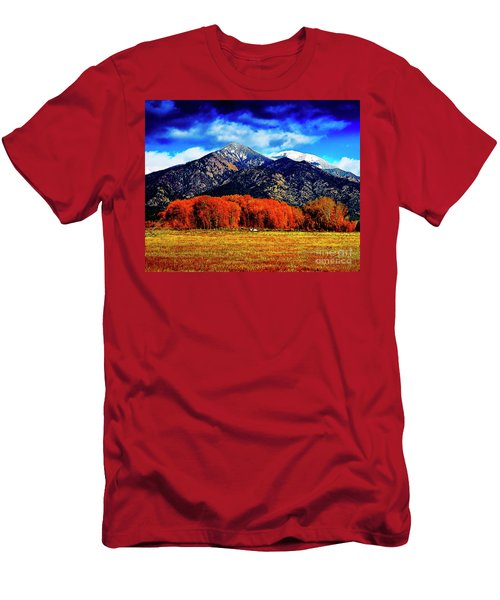 Autumn In Taos New Mexico Men's T-Shirt (Athletic Fit)