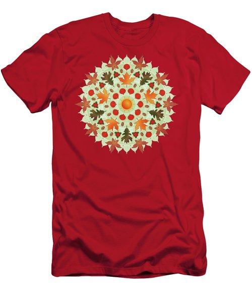 Autumn Mandala Men's T-Shirt (Athletic Fit)