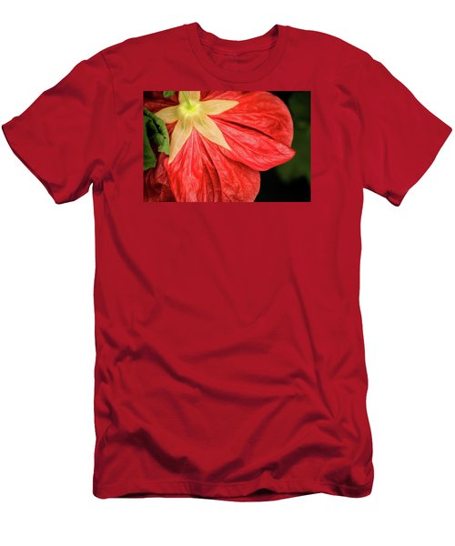 Back Of Red Flower Men's T-Shirt (Athletic Fit)