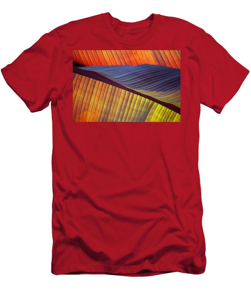 Men's T-Shirt (Athletic Fit) featuring the photograph Banana Leaf 8613 by Mark Shoolery