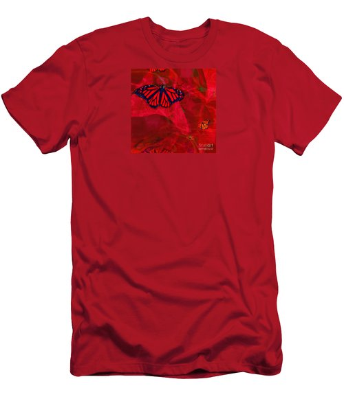 Strong And Fragile In Red Men's T-Shirt (Athletic Fit)