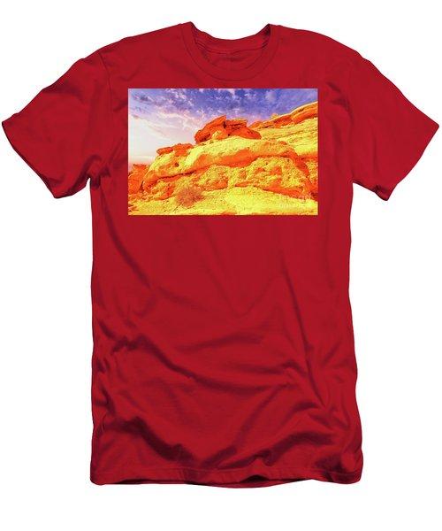 Beautiful Desert Rocks Men's T-Shirt (Athletic Fit)