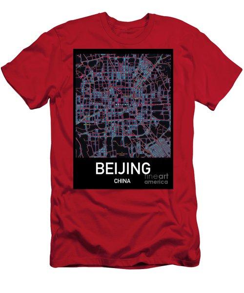 Beijing City Map Men's T-Shirt (Athletic Fit)