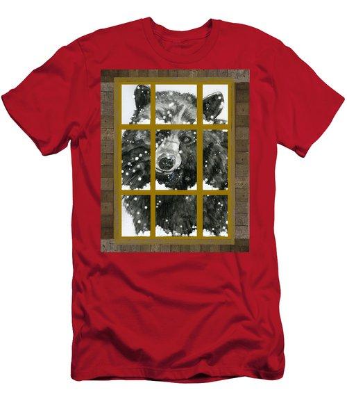 Black Bear, Outside My Window Men's T-Shirt (Athletic Fit)