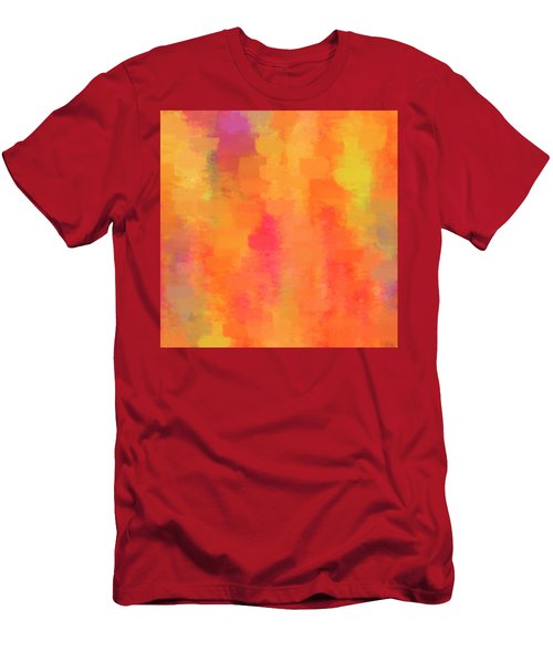 Blood Orange Abstract Painting Men's T-Shirt (Athletic Fit)