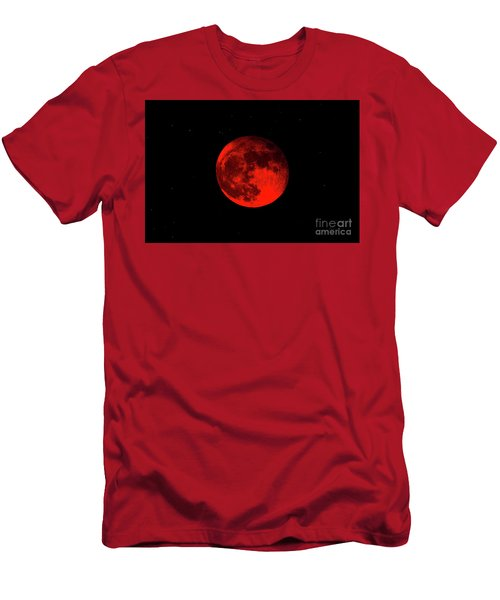 Blood Red Wolf Supermoon Eclipse 873a Men's T-Shirt (Athletic Fit)