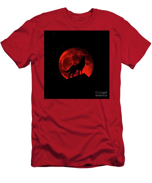 Blood Red Wolf Supermoon Eclipse 873l Men's T-Shirt (Athletic Fit)
