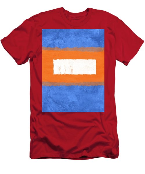 Blue And Orange Abstract Theme I Men's T-Shirt (Athletic Fit)