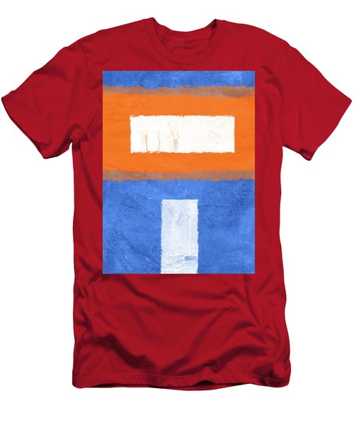 Blue And Orange Abstract Theme II Men's T-Shirt (Athletic Fit)