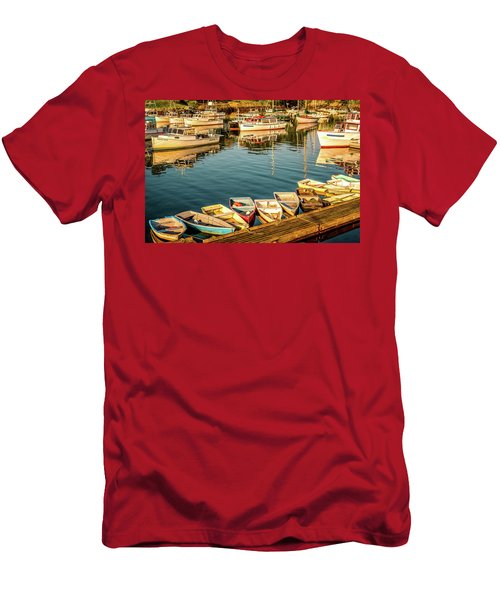 Boats In The Cove. Perkins Cove, Maine Men's T-Shirt (Athletic Fit)