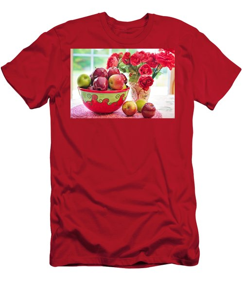 Bowl Of Red Apples Men's T-Shirt (Athletic Fit)