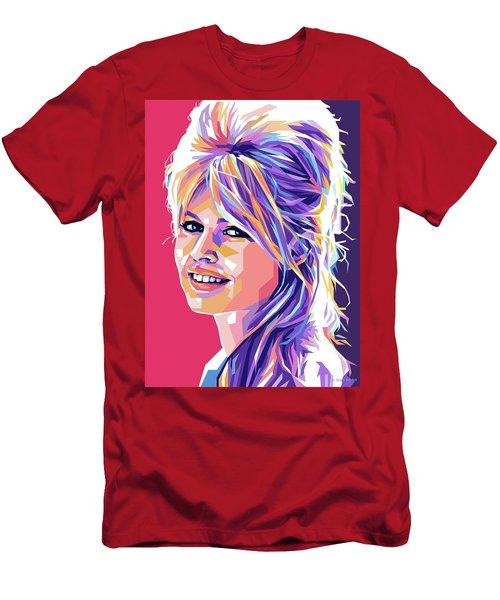 Brigitte Bardot Pop Art Men's T-Shirt (Athletic Fit)