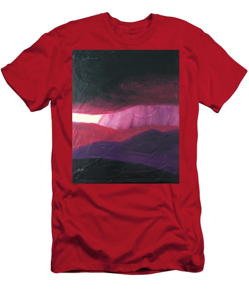 Burgundy Storm On The Horizon Men's T-Shirt (Athletic Fit)