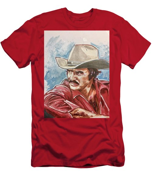 Men's T-Shirt (Athletic Fit) featuring the painting Burt Reynolds by Joel Tesch