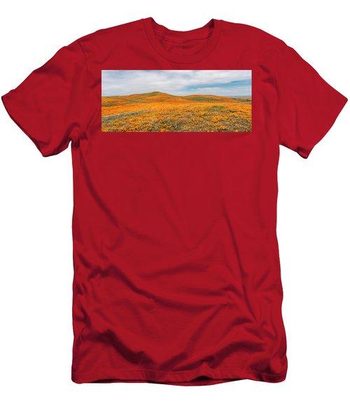 California Poppy Superbloom 2019 - Panorama Men's T-Shirt (Athletic Fit)