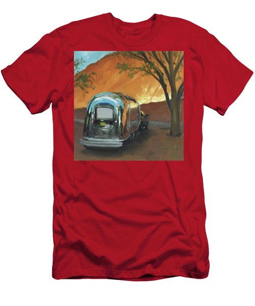 Camping At The Red Rocks Men's T-Shirt (Athletic Fit)