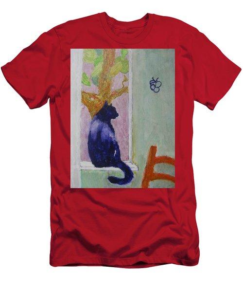 cat named Seamus Men's T-Shirt (Athletic Fit)