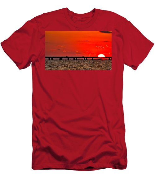 Causeway Sunset Men's T-Shirt (Athletic Fit)