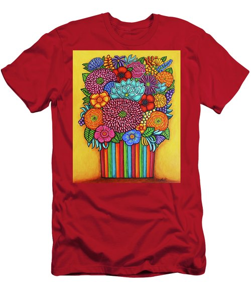 Men's T-Shirt (Athletic Fit) featuring the painting Celebration Bouquet by Lisa Lorenz