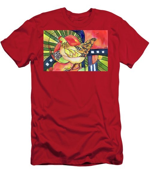 Chicken Red Men's T-Shirt (Athletic Fit)