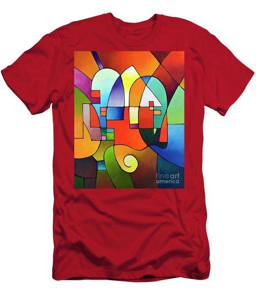 Clear Focus 2, Canvas Two Men's T-Shirt (Athletic Fit)