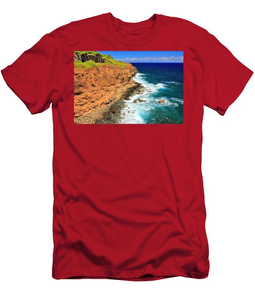 Cliff On Pacific Ocean Men's T-Shirt (Athletic Fit)