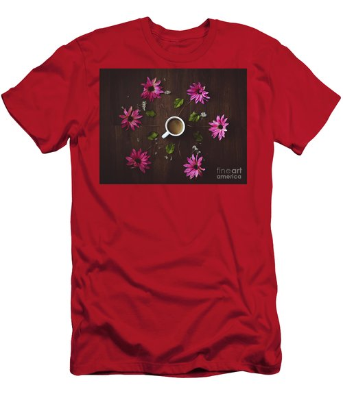 Coffee And Flowers Men's T-Shirt (Athletic Fit)
