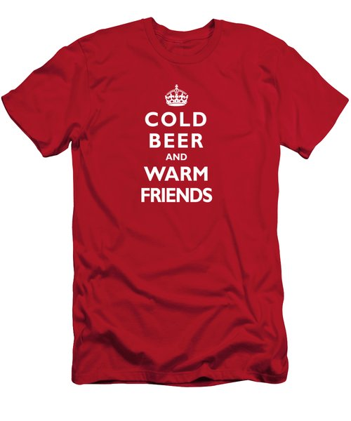 Cold Beer Warm Friends Men's T-Shirt (Athletic Fit)