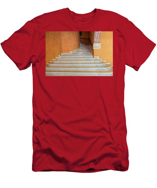 Men's T-Shirt (Athletic Fit) featuring the photograph Colonial Stairs by Juan Contreras