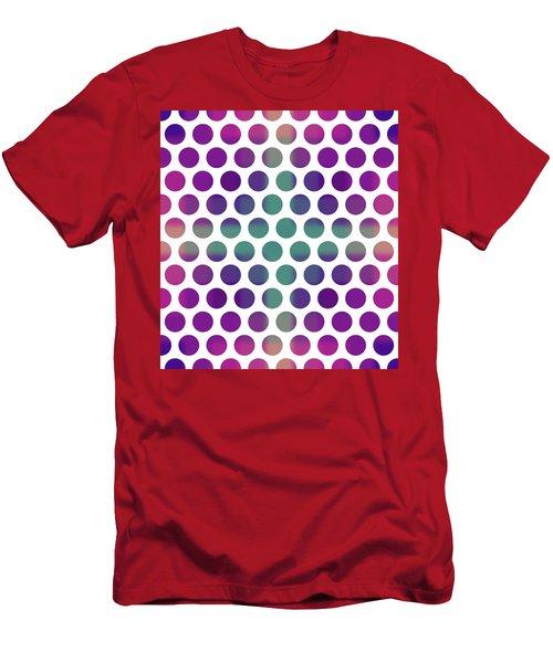 Colorful Dots Pattern - Polka Dots - Pattern Design 4 - Violet, Purple, Indigo Men's T-Shirt (Athletic Fit)