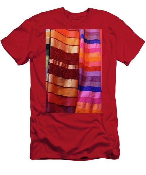 Colorful Fabrics In The Medina Market  Men's T-Shirt (Athletic Fit)