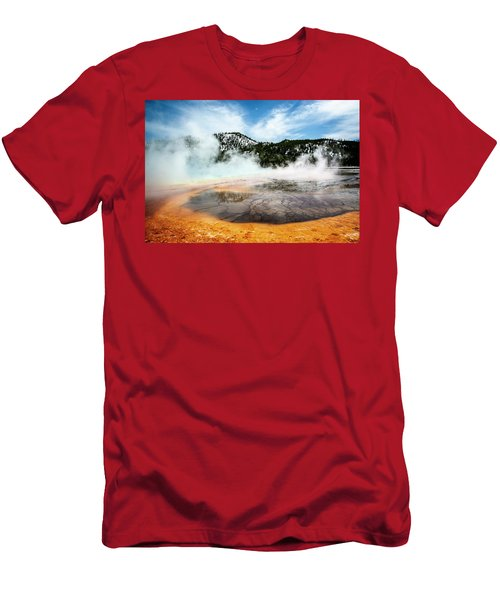 Men's T-Shirt (Athletic Fit) featuring the photograph Colors Of Yellowstone by Scott Read