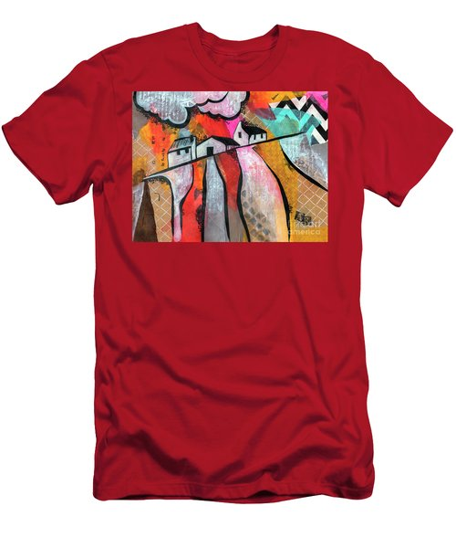 Men's T-Shirt (Athletic Fit) featuring the mixed media Country Life by Ariadna De Raadt