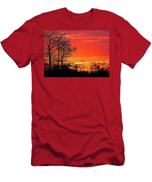 Cypress Swamp Sunset 2 Men's T-Shirt (Athletic Fit)