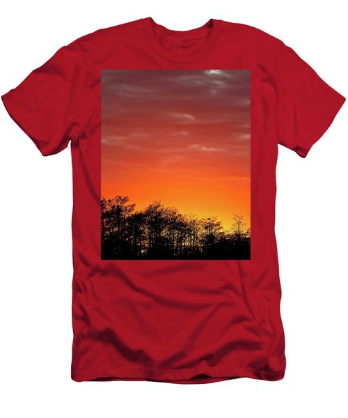 Cypress Swamp Sunset 4 Men's T-Shirt (Athletic Fit)