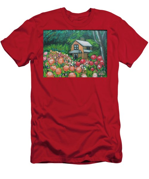 Dahlias In The Woods Men's T-Shirt (Athletic Fit)