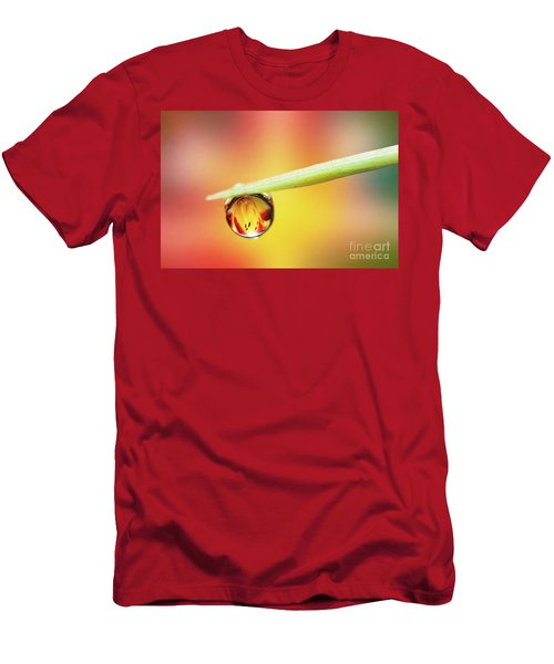 Daylily In A Droplet Men's T-Shirt (Athletic Fit)