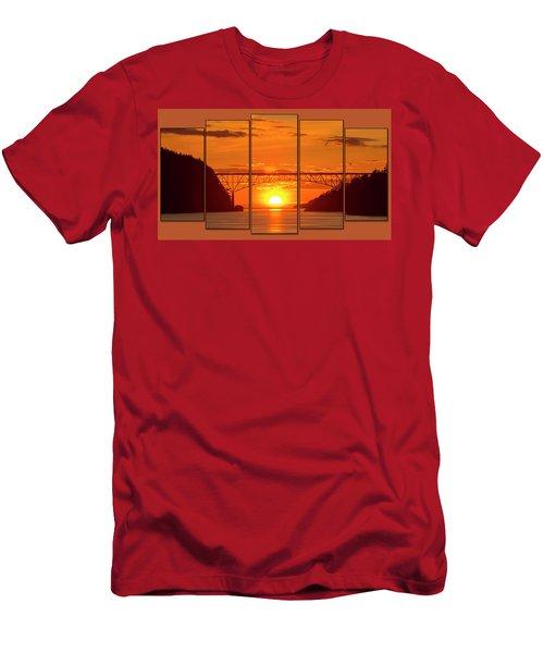 Deception Pass Sunset Panels Men's T-Shirt (Athletic Fit)