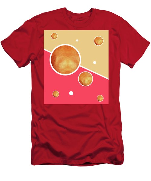 Deep Pink, Peach And Gold Pattern - Pastel Colors - Abstract Pattern Design - Modern, Minimal Men's T-Shirt (Athletic Fit)