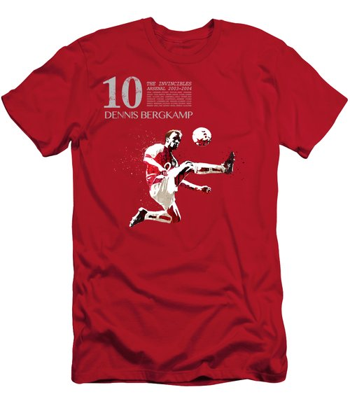 Dennis Bergkamp - Invincibles Arsenal Men's T-Shirt (Athletic Fit)
