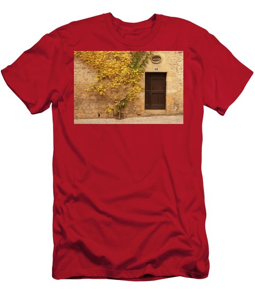 Men's T-Shirt (Athletic Fit) featuring the photograph Doorway, Sarlat, France by Mark Shoolery