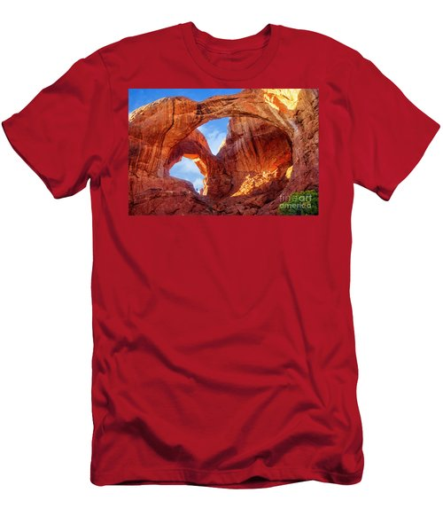 Men's T-Shirt (Athletic Fit) featuring the photograph Double Arch by Scott Kemper