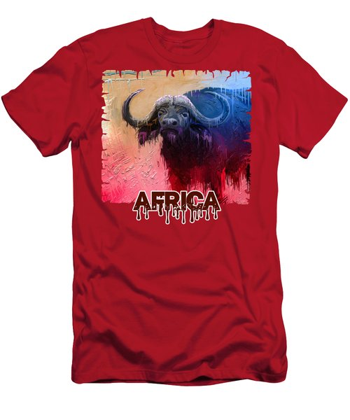 Dripping Buffalo Men's T-Shirt (Athletic Fit)