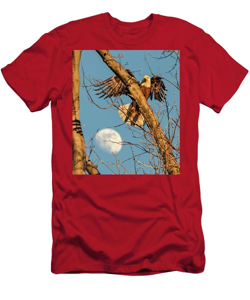 Eagle And Moon  Men's T-Shirt (Athletic Fit)
