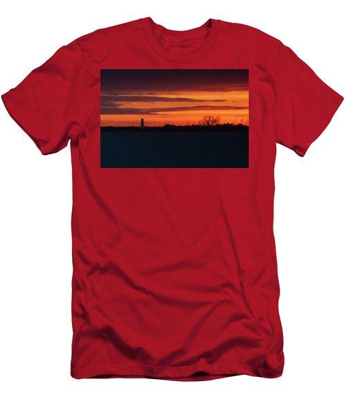Egmont Key Lighthouse Sunset Men's T-Shirt (Athletic Fit)