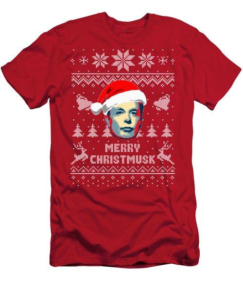 Elon Musk Merry Christmusk Men's T-Shirt (Athletic Fit)
