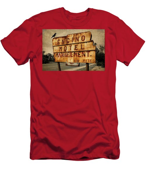 Men's T-Shirt (Athletic Fit) featuring the photograph Encino Hotel by Lou Novick