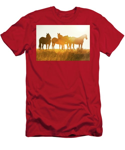 Men's T-Shirt (Athletic Fit) featuring the photograph Equine Glow by Todd Klassy